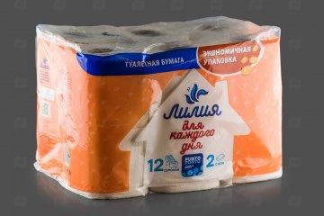 Купить Бумага туалетная 2-сл (12 рул) Лилия белая в Хабаровске